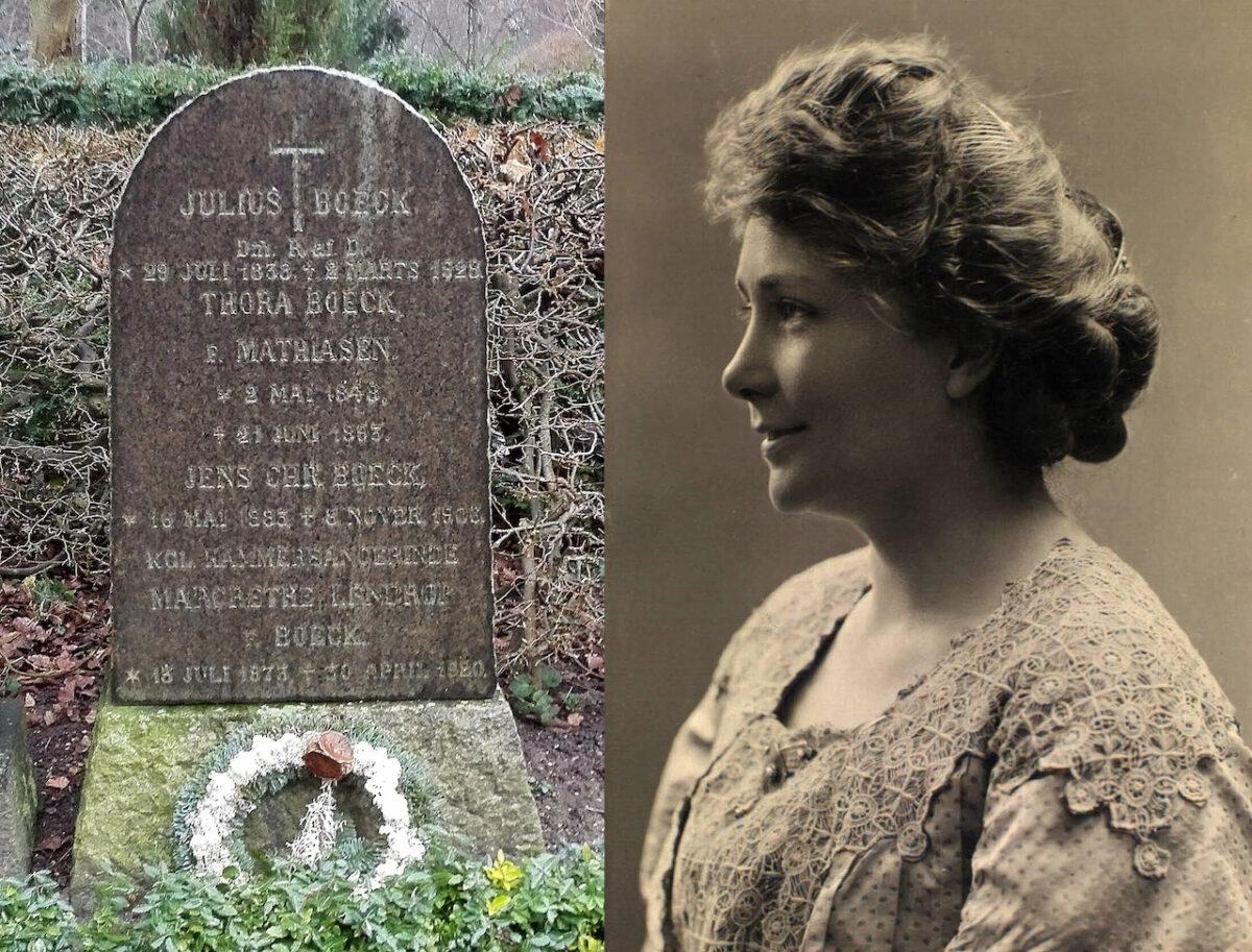 Margrethe Lendrop på Assistens Kirkegård