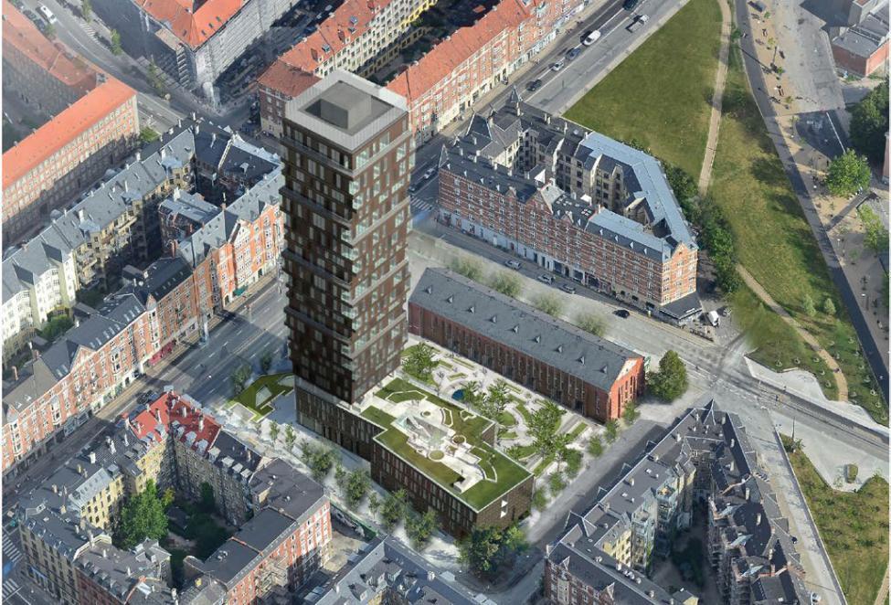 Afvist: Jagtvej får ikke et 75 meters højhus