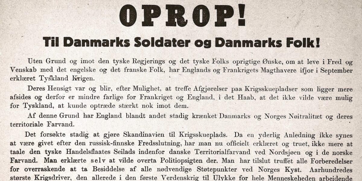 9. april 1940: Besættelsen set fra Nørrebro