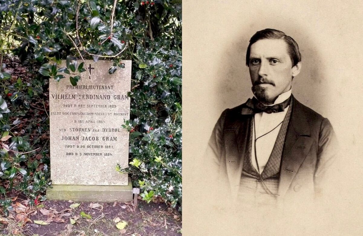 Wilhelm Ferdinand Gram på Assistens Kirkegård
