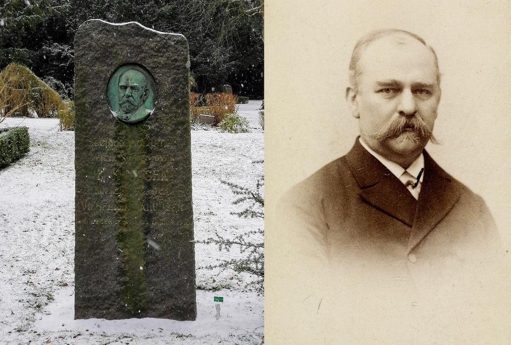 P. Knudsen på Assistens Kirkegård