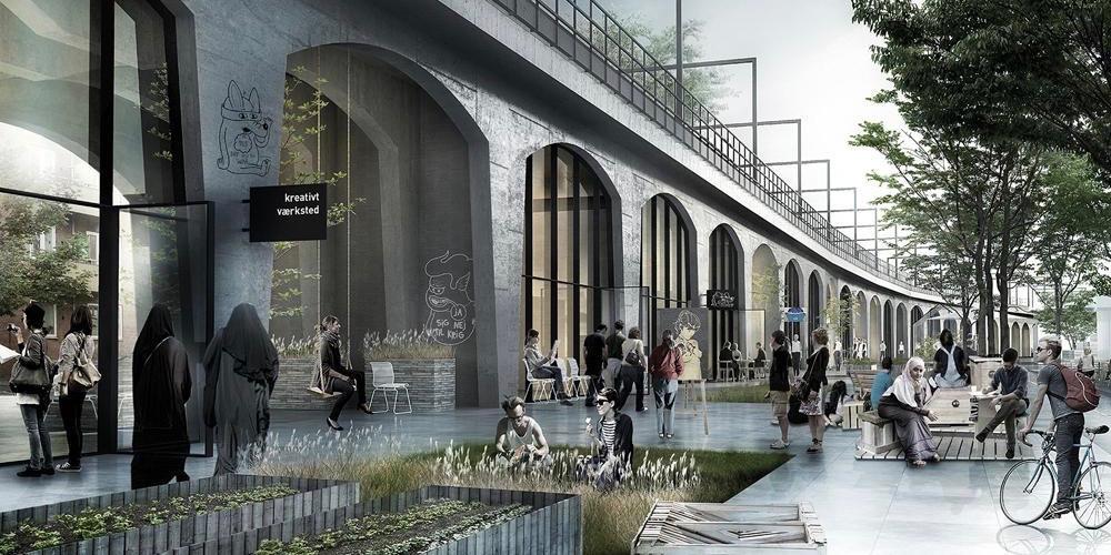 Nye byrum ved Nørrebro Station på vej