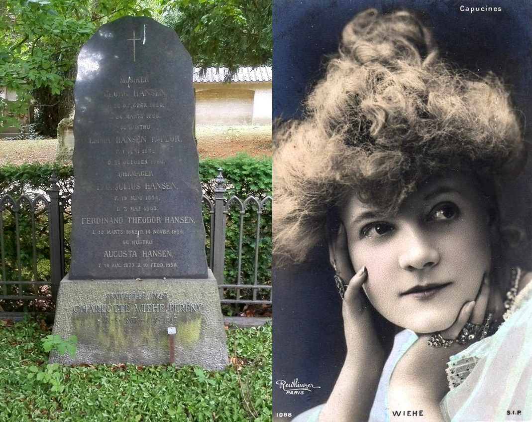 Charlotte Wiehe-Berény på Assistens Kirkegård