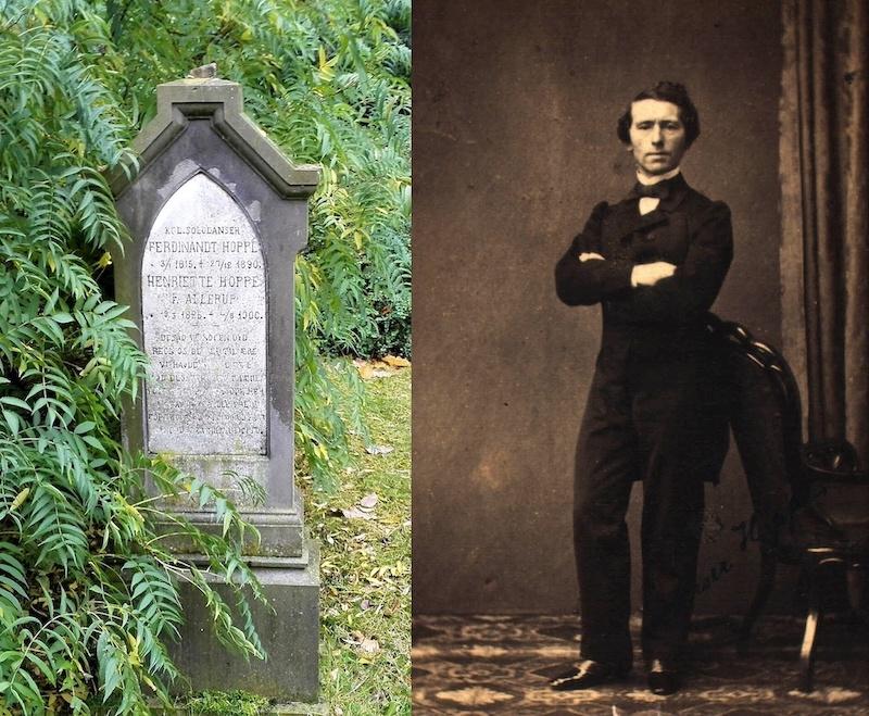 Ferdinand Hoppe på Assistens Kirkegård