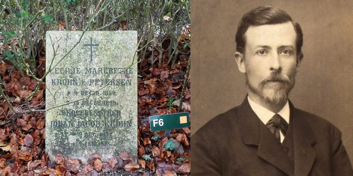 Johan Jacob Krohn på Assistens Kirkegård