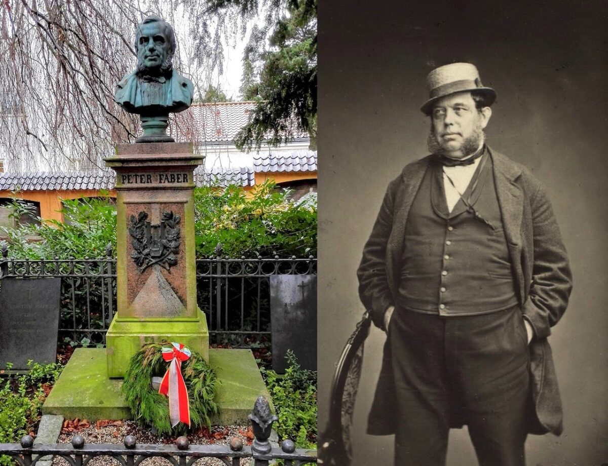 Peter Faber på Assistens Kirkegård