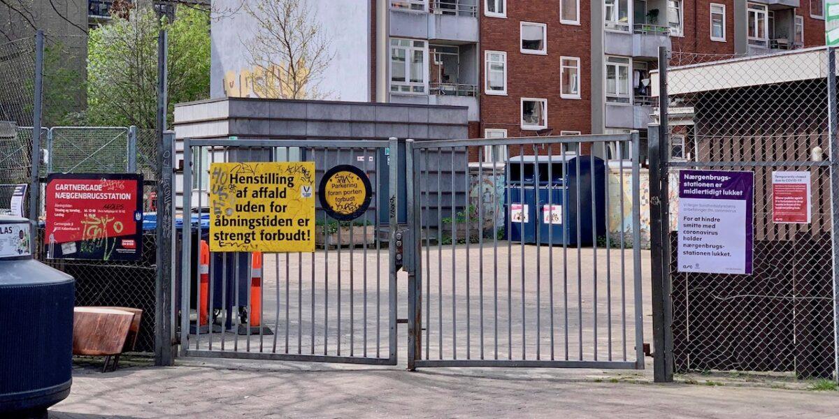Nærgenbrugsstationen i Gartnergade åbner igen