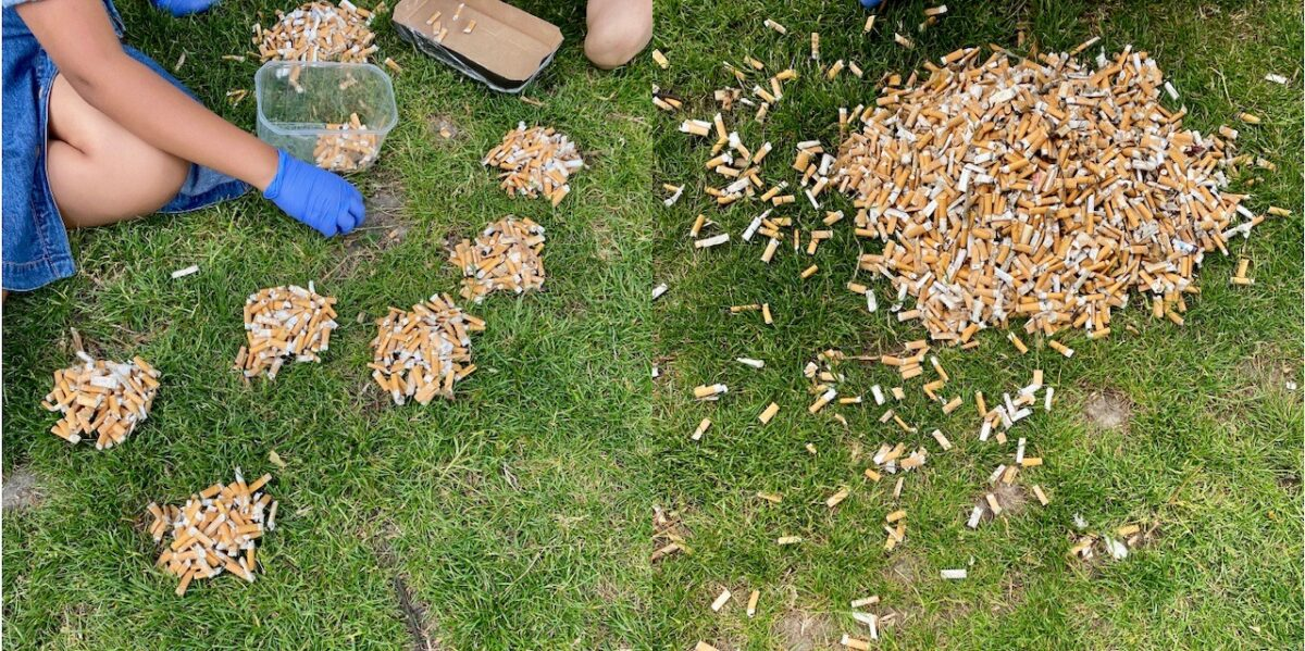 Nørrebros børn går forrest: Samler 3.250 cigaretskod på 45 minutter