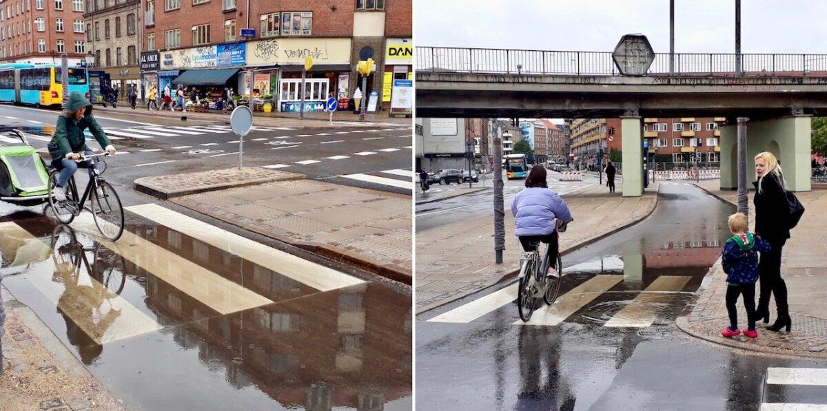 Pyt med det: Nyanlagt cykelsti ved Nørrebro Station sejler i vand