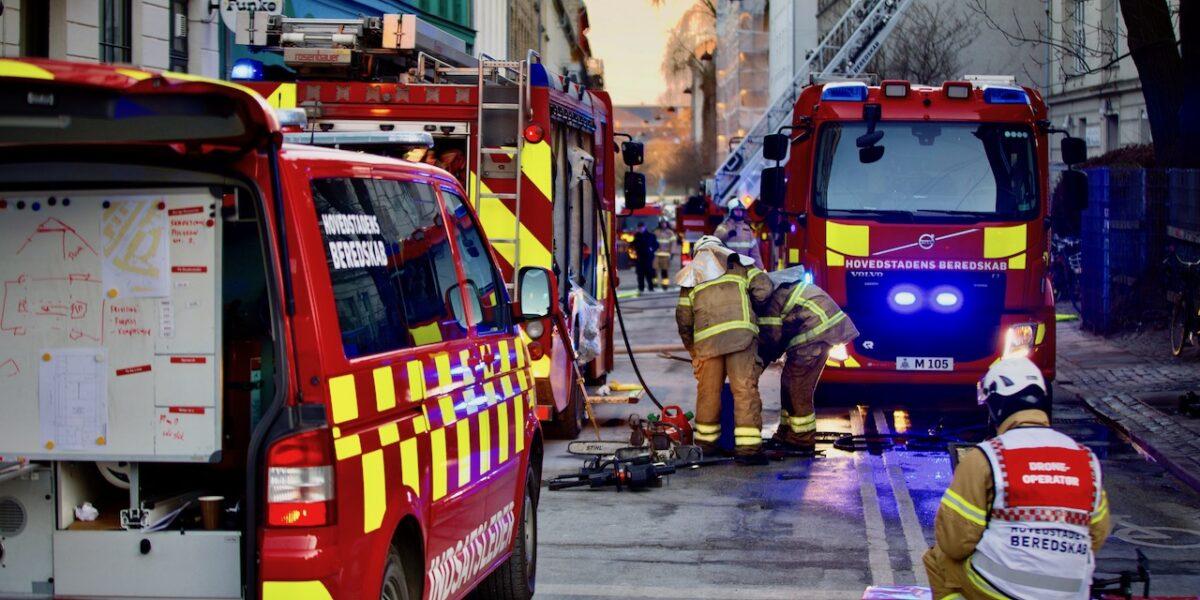 Brand i skole ved Sankt Hans Torv – SFO-børn evakueret