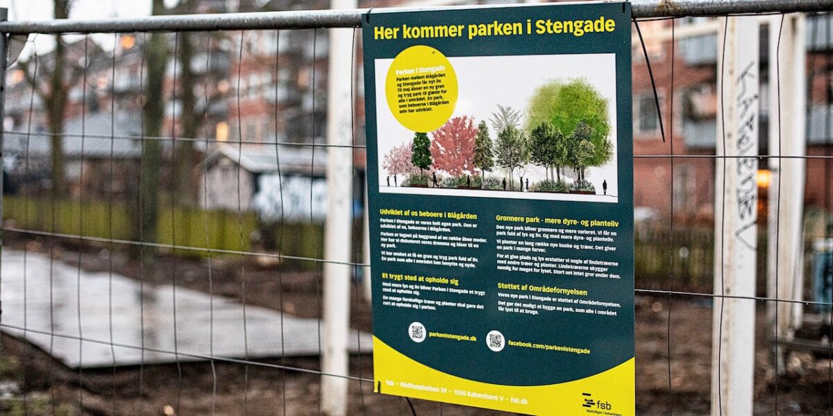 Nu er de i gang: Ny park i Stengade bliver klar i løbet af foråret