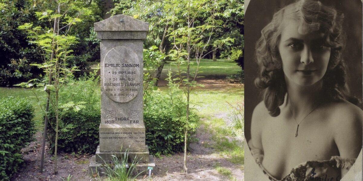 Emilie Sannom på Assistens Kirkegård