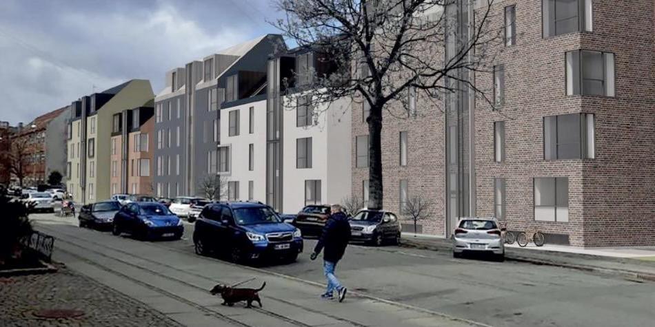 På vej: Boligbyggeri med variation og kant rykker ind i Baldersgade