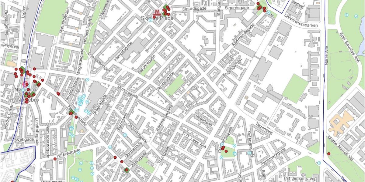Se kortet: her mister Nørrebro 95 affaldskurve (og her får vi 20 nye)